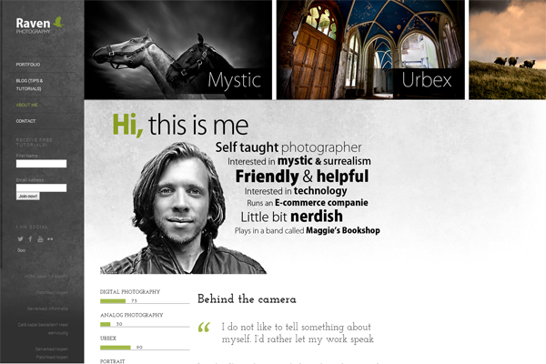 Highly Intelligent About Me Page Tips for Photographers