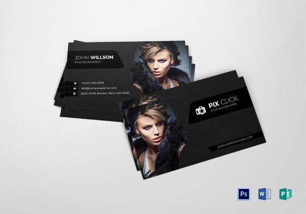 40 creative photography business card designs for inspiration fixthephoto free photography business card templates accmission Images