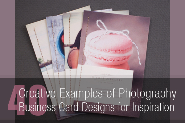 40 creative photography business card designs for inspiration photo by nicole reheart Gallery
