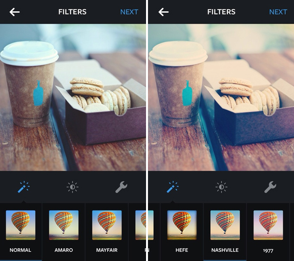 How to make instagram filters in photoshop nashville and 1997 instagram normal and nashville photo effects screenshot ccuart Image collections
