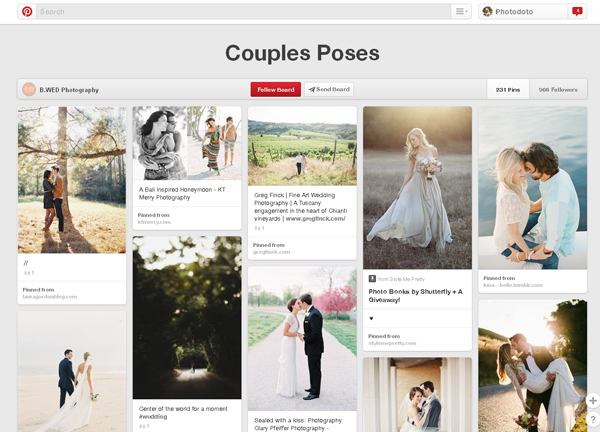 Couples Poses Board by B.WED Photography