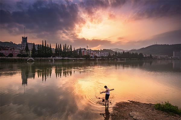 Twilight In A Small Town by Tao Wu