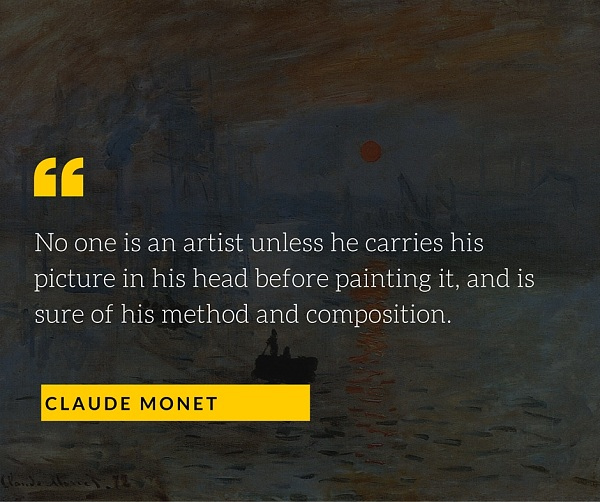 Claude Monet Quote for Photographers