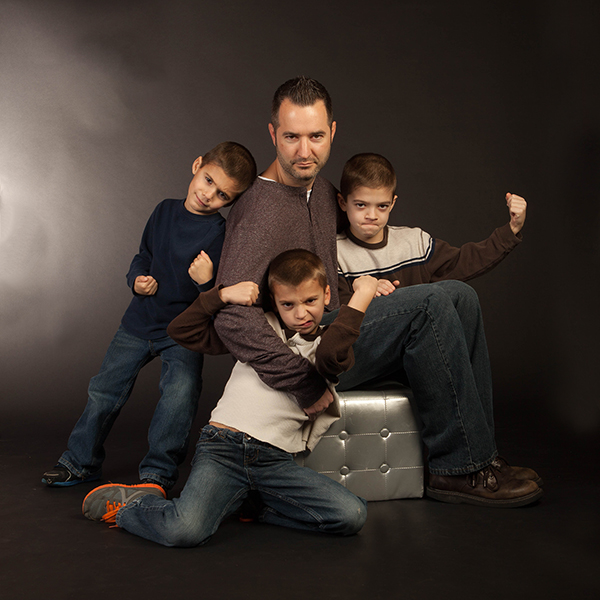 all four Men to look tough