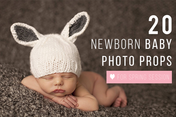 Newborn baby photo props for spring session