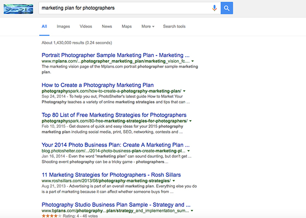 Freelance photography business plan