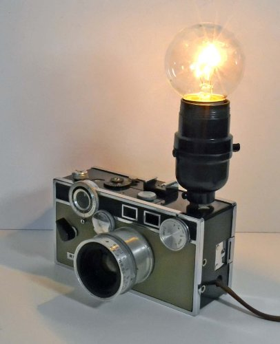 Vintage Camera Lamp Decor