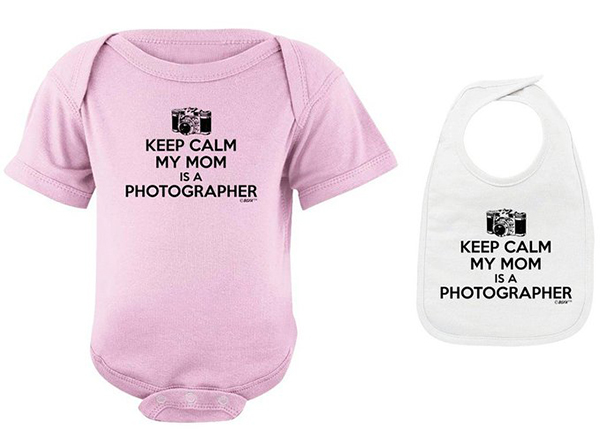 Photography Theme Baby Bib and Bodysuite
