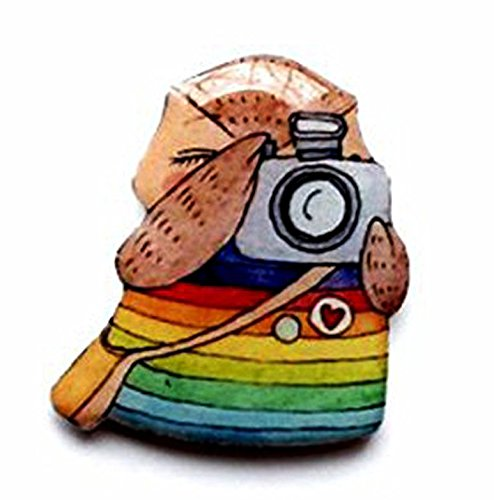 Owl Photographer Lover Brooch