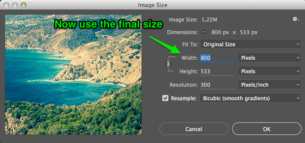 How to Resize Imges for Sharpness in Photoshop
