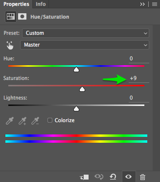 Hue Adjustment Level in Photoshop