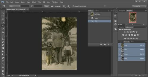 retouch old photos- open history