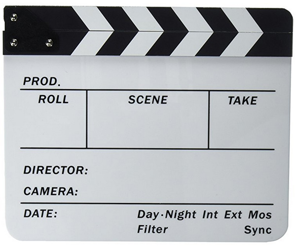gifts for filmmakers-clapboard