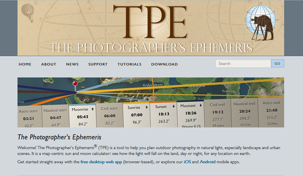 photographers ephemeris