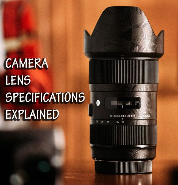camera lens with labels