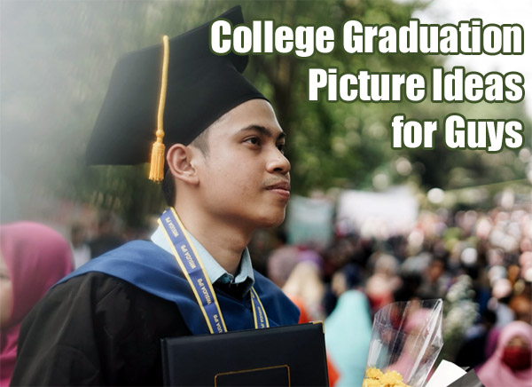 male student in graduation gown